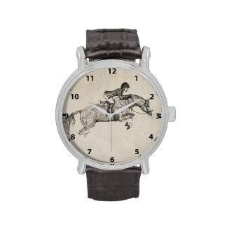 Pointillism del potro del cazador reloj