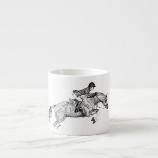 Pointillism del potro del cazador tazita espresso