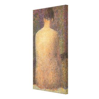 Pointillism del vintage, modelo de detrás por impresión en tela