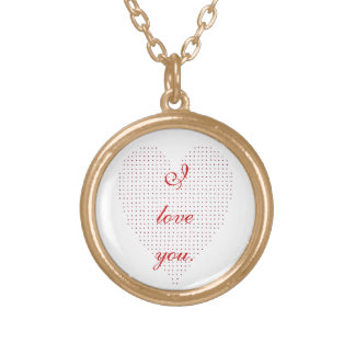 Pointillism Heart I love you Necklace