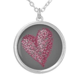 Pointillism Heart Necklace