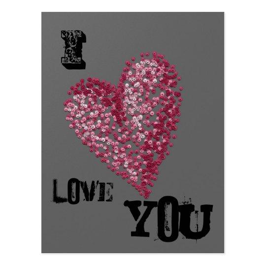 Pointillism Heart Postcard