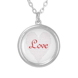 Pointillism Heart Sweetheart Love Necklace