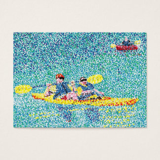 Pointillism Kayak Scene Artist Trading Card