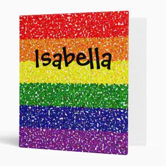 Pointillism Rainbow Binder