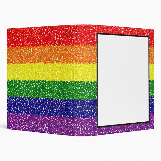 pointillism rainbow easy custom area 3 ring binders zazzle