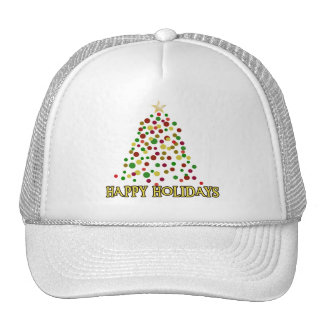 Pointillism Style Christmas Tree Products Trucker Hat