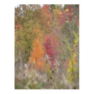 """""""Pointillist's Autumn"""" Postcard"""