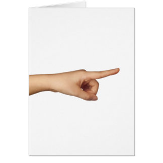 Pointing a finger card
