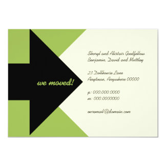 Pointing Arrow Moving Announcement and Invitation