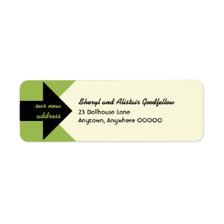 Pointing Arrow Moving Announcement Custom Return Address Label