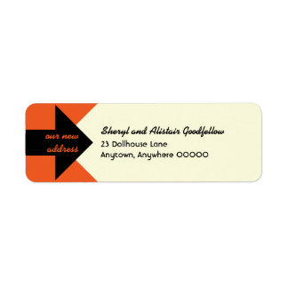Pointing Arrow Moving Announcement Return Address Label