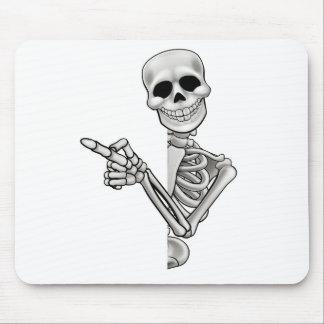 Pointing Cartoon Skeleton Mouse Pad