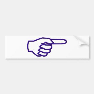 Pointing Finger Bumper Sticker
