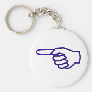 Pointing Finger Keychain