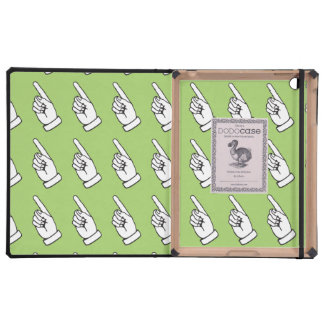 Pointing Finger mint iPad Cases
