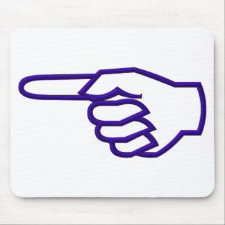 Pointing Finger Mouse Pad