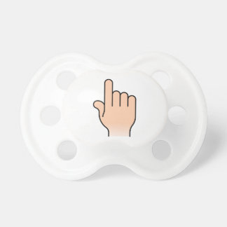 Pointing Hand Baby Pacifiers