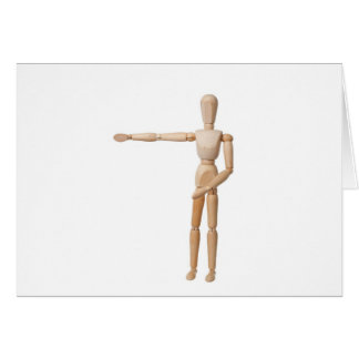 Pointing Left Card