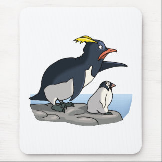 Pointing Penguins Mouse Pad