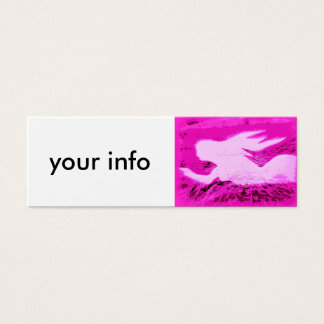 pointing pink mermaid mini business card