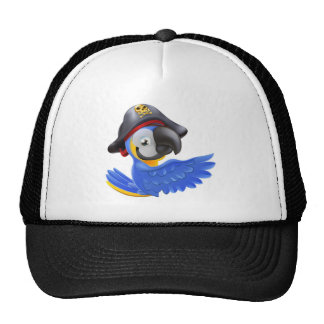 Pointing Pirate Parrot Trucker Hats