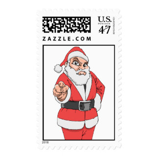 Pointing Santa Stamps