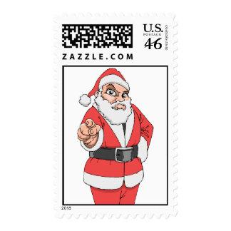 Pointing Santa Stamps