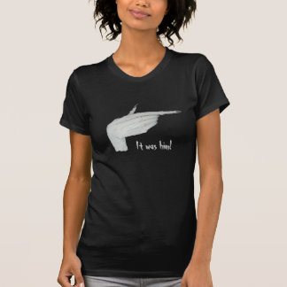 Pointing scary monster hand with long nails art shirts