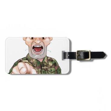 Pointing Soldier Cartoon Bag Tag