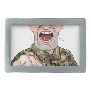 Pointing Soldier Cartoon Belt Buckle