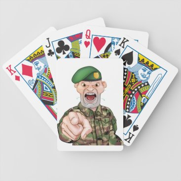 Pointing Soldier Cartoon Bicycle Playing Cards