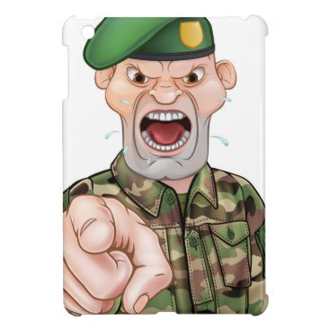 Pointing Soldier Cartoon Case For The iPad Mini