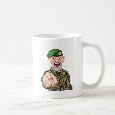 Pointing Soldier Cartoon Coffee Mug