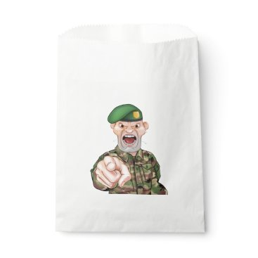 Pointing Soldier Cartoon Favor Bag