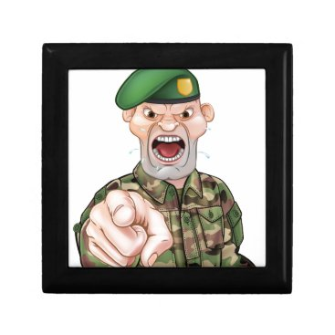 Pointing Soldier Cartoon Gift Box