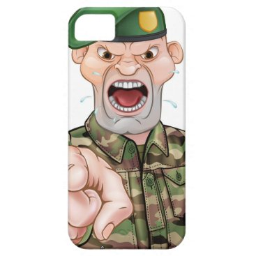 Pointing Soldier Cartoon iPhone SE/5/5s Case