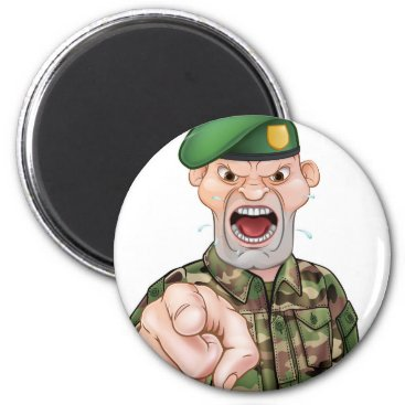 Pointing Soldier Cartoon Magnet
