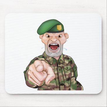 Pointing Soldier Cartoon Mouse Pad