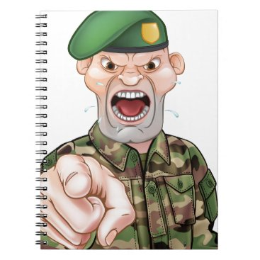 Pointing Soldier Cartoon Notebook