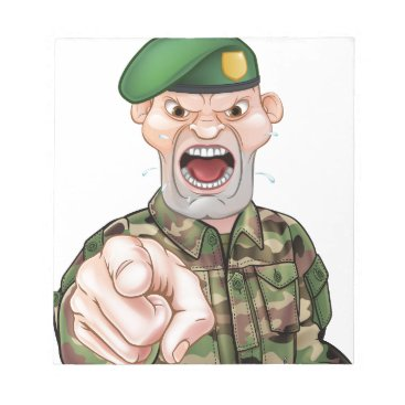 Pointing Soldier Cartoon Notepad