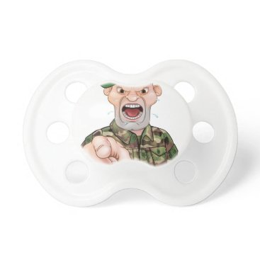 Pointing Soldier Cartoon Pacifier