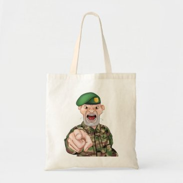Pointing Soldier Cartoon Tote Bag
