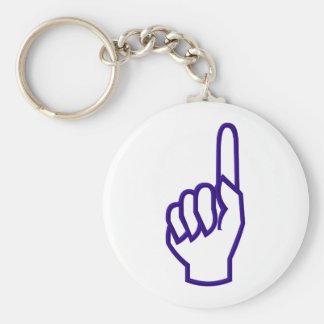 Pointing up finger/hand keychain
