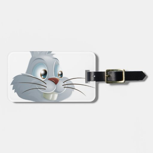 Pointing White Rabbit Luggage Tags