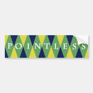 Pointless Argyle Car Bumper Sticker