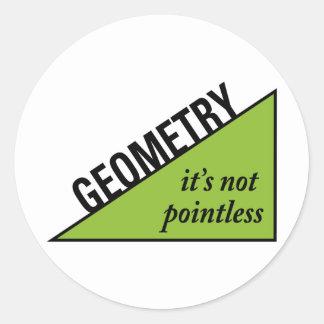 Pointless Geometry Classic Round Sticker
