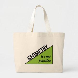 Pointless Geometry Large Tote Bag