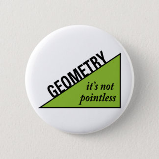 Pointless Geometry Pinback Button