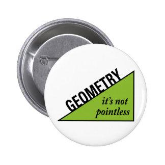Pointless Geometry Pinback Button